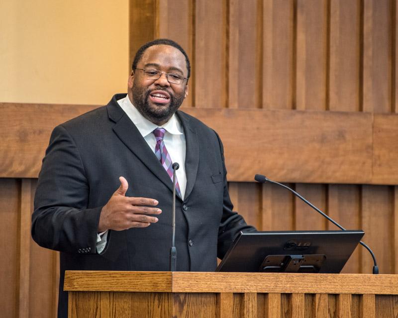 Kenton preaching