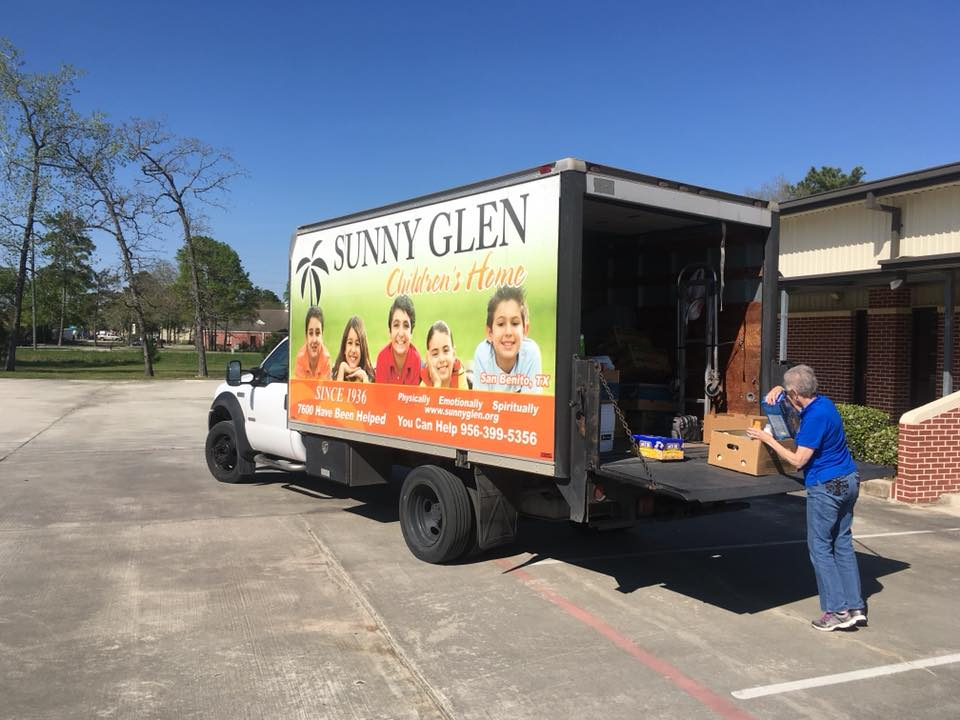 Sunny Glen Children's Home came by today to pick up the laundry detergent and kid's snacks. They send their love to the congregation and wanted y'all to know how much they appreciate Lake Houston and how thankful they are for the items y'all provided.
