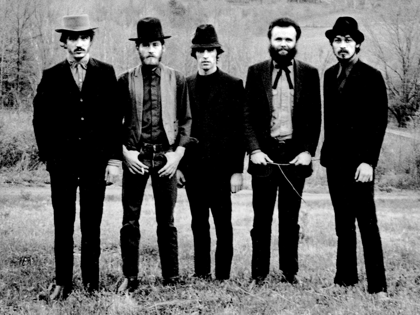 From Left to Right: Rick Danko (Bass), Levon Helm (Drums), Richard Manuel (Piano), Garth Hudson (Organ/Synth), Robbie Robertson (Guitar)