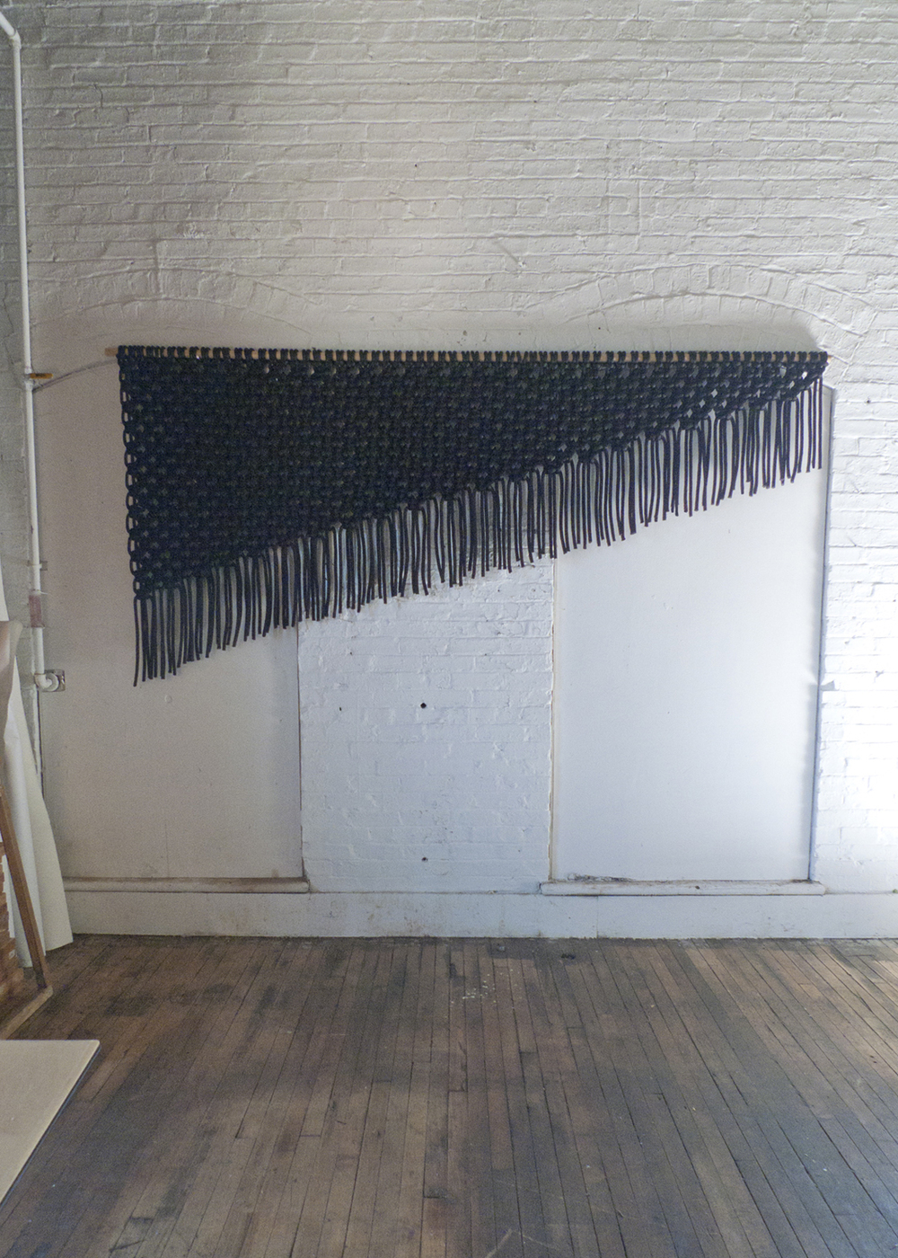 5' x 10' . Nylon cord. 2013.  Wall hanging created for ACE Hotel in Shoreditch, London. Opening September 2013.