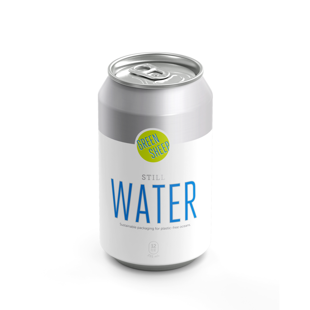 Green Sheep canned water aluminum can