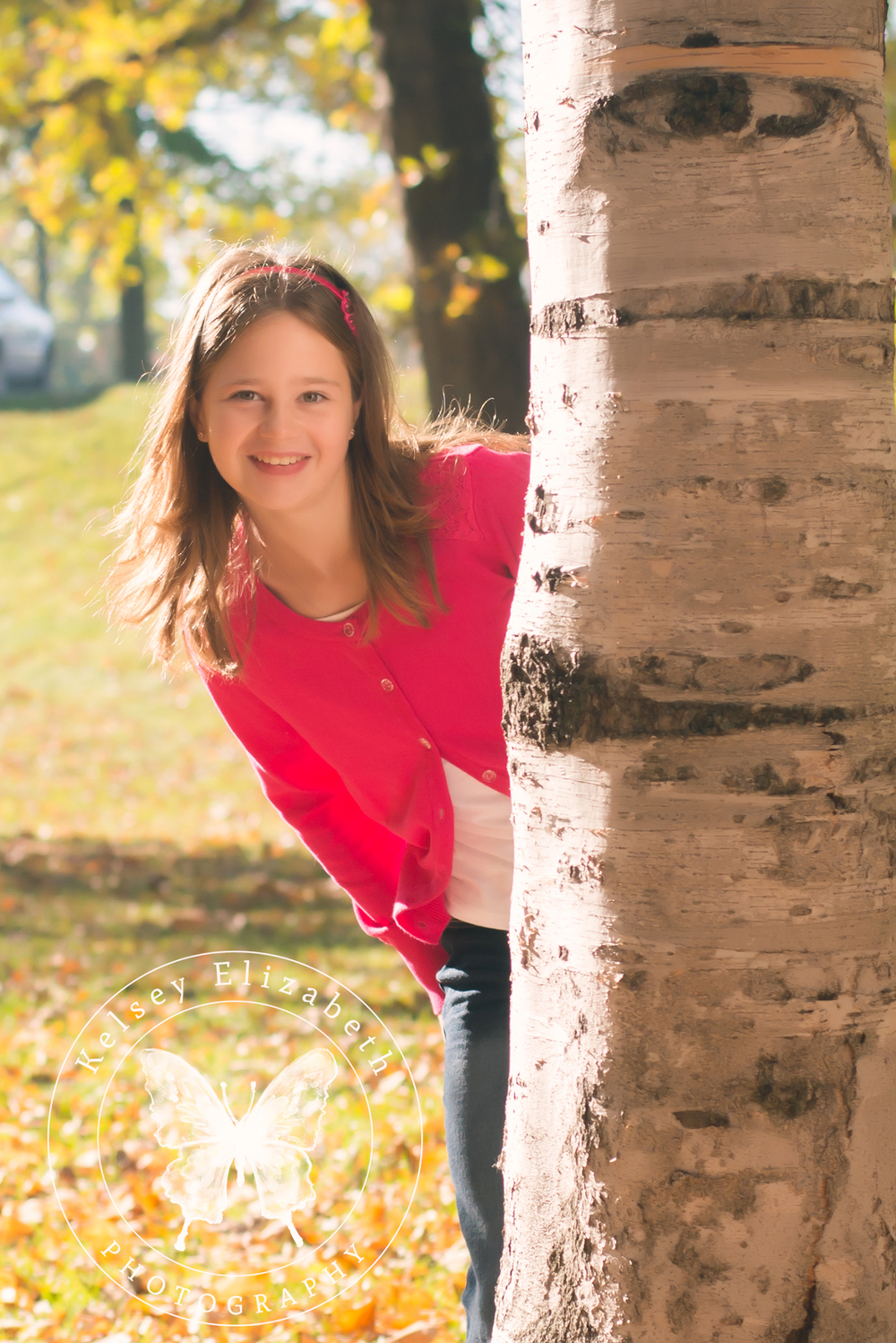 Twin Cities Hastings MN Natural Light Children's Photographer; Fall Foliage Portrait
