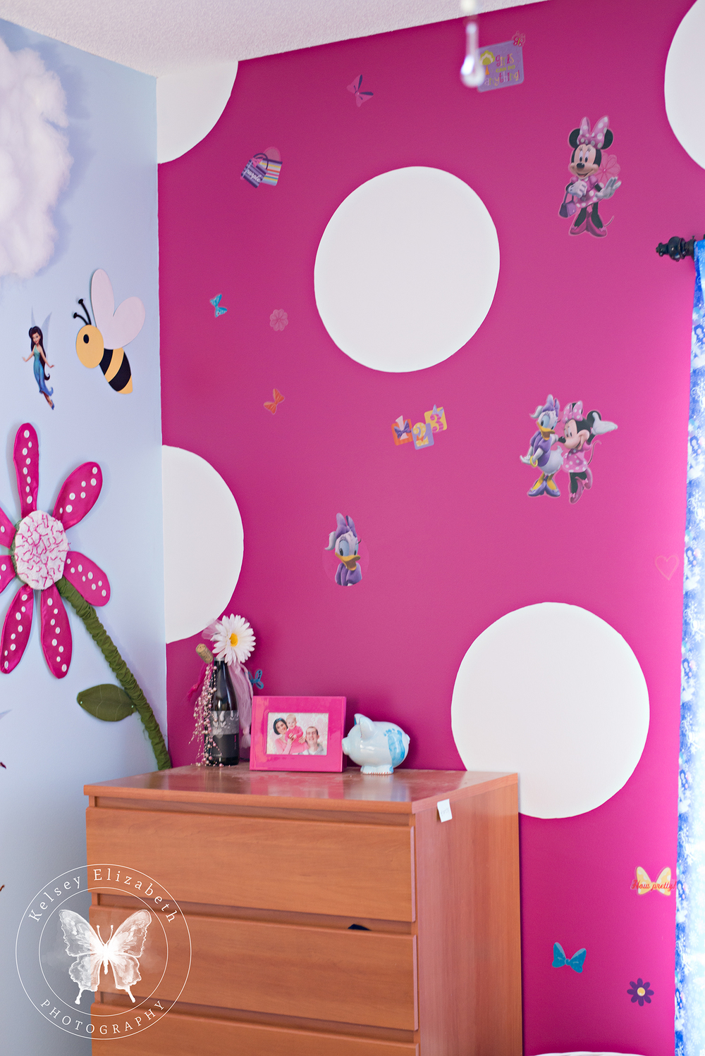 Minnie Mouse Bedroom Wall; Children's Bedroom; Disney Bedroom