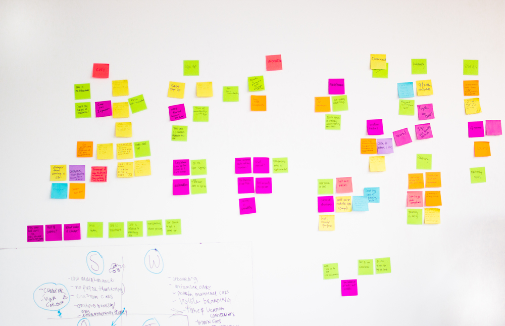 Post-it notes can be your best friend when trying to find themes and glean insights from research.