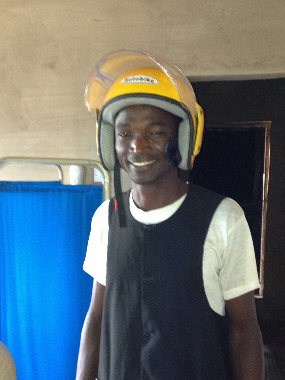 Daniel Bugo, a Motorized Health Outreach Officer with the Fund for Global Health.