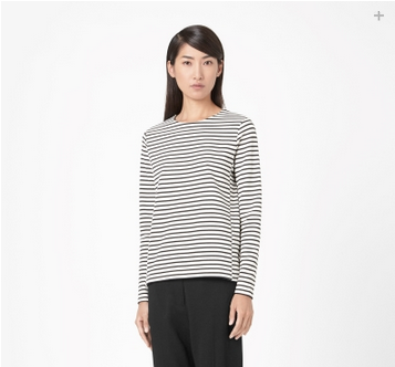 Striped jersey top, $59