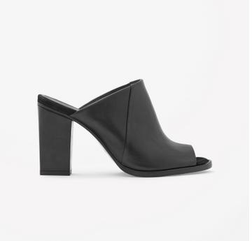 slip-on heels, $225