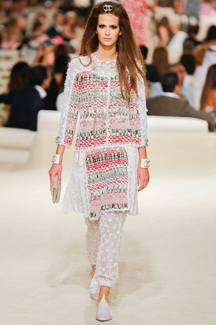 One of my favorite looks from the Chanel show. Photo:  Vogue