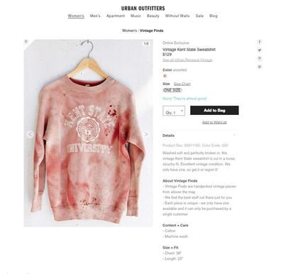 Scandal  Photo: Urban Outfitters screenshot