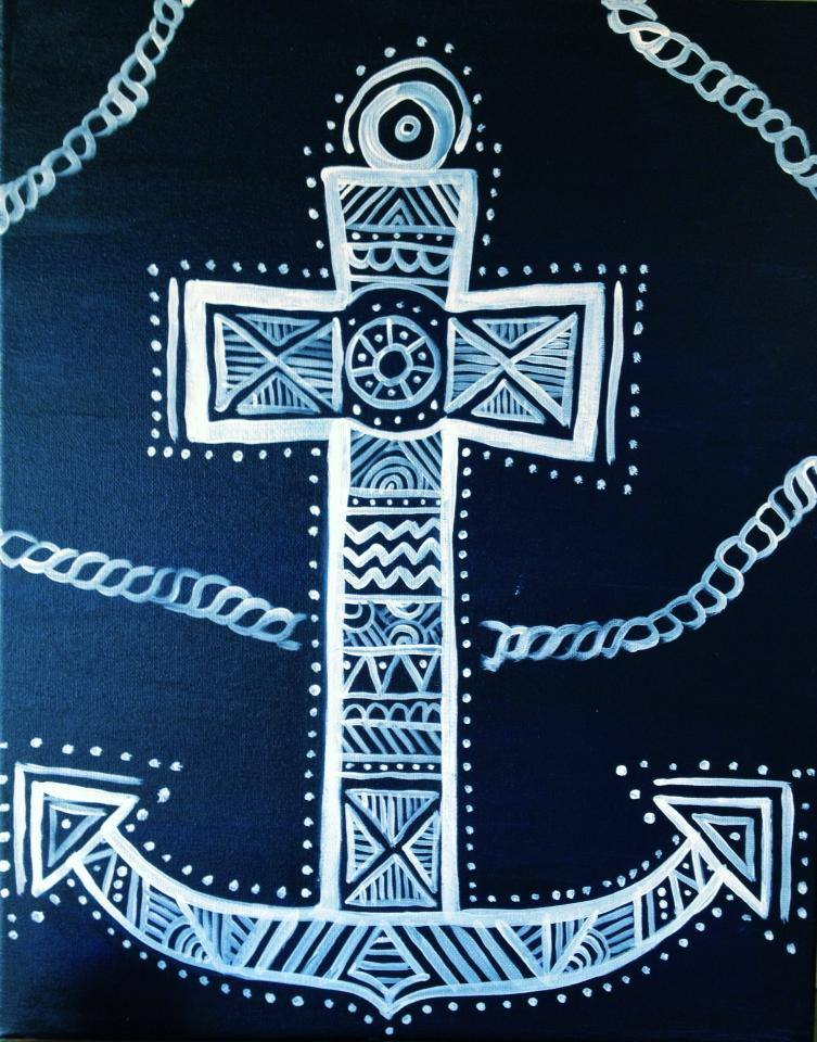 "Copy of ""Tribal Anchored Cross"" - 2 hours"