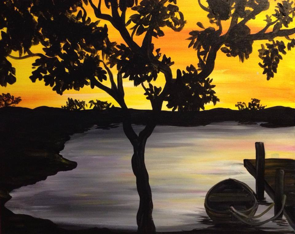 """Sunset Boat Dock"" - 2.5 hours"