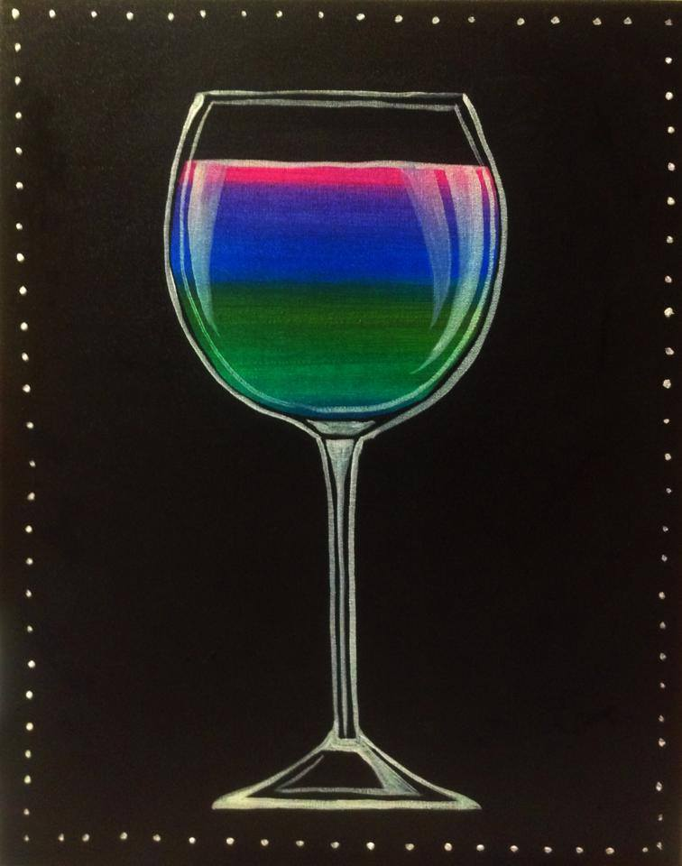 """""""Neon Sips (wine)"""" - 2 hours"""
