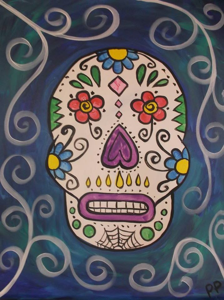 """Sugar Skull 2"" - Customizable - 2 hours"