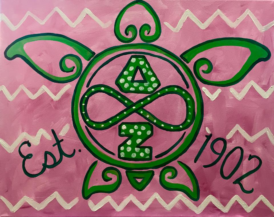 """Delta Zeta Mascot"" - customizable - 2 hours"