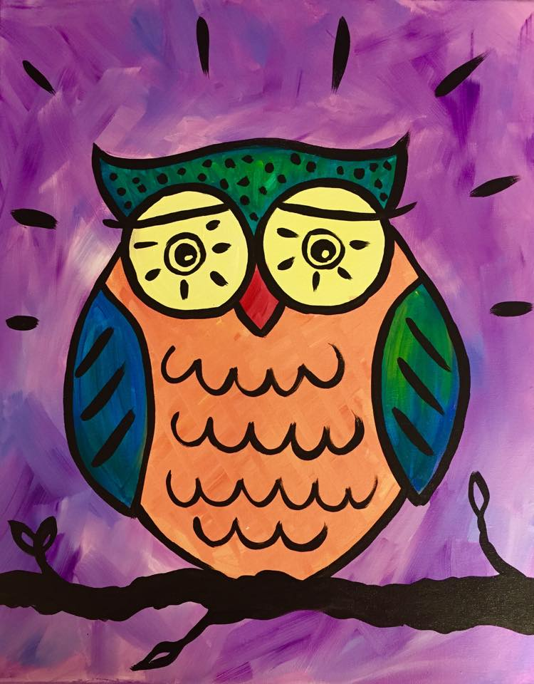 """Funky Owl"" - customizable - 2 hours"