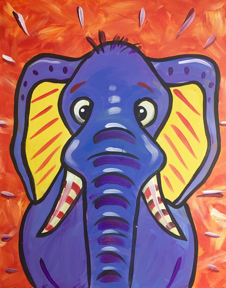 """Funky Elephant"" - customizable - 2 hours"