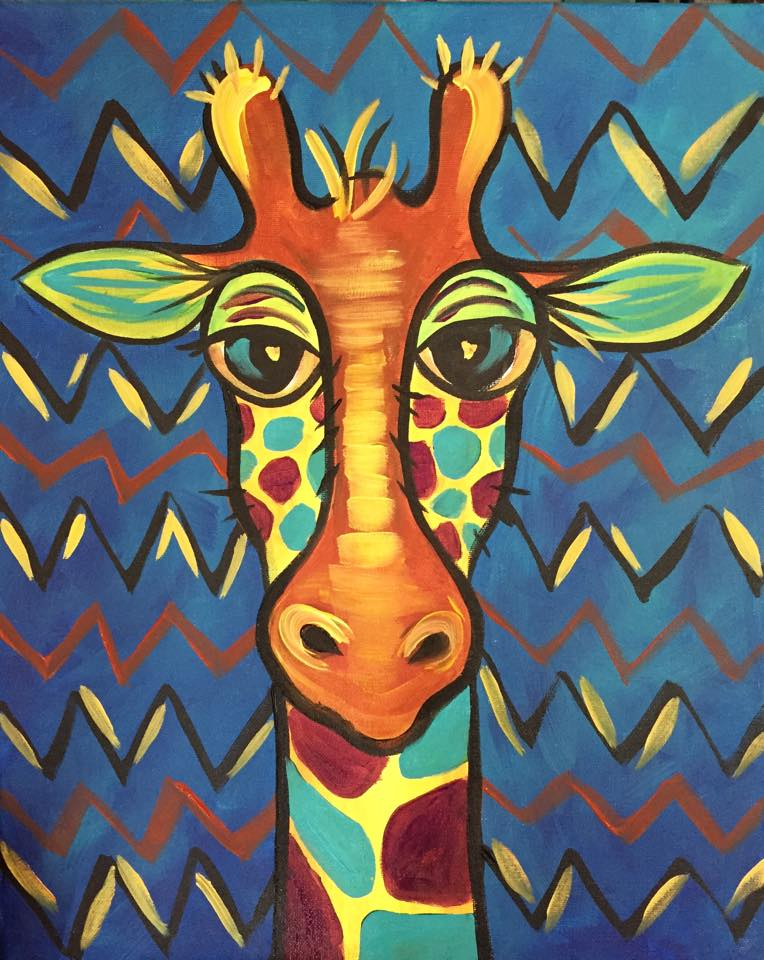 """Funky Giraffe"" - Customizable - 2 hours"