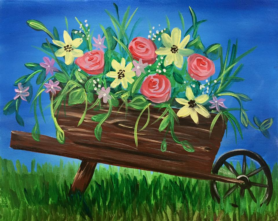 """Blooming Wheel Barrow"" - 2.5 hours"