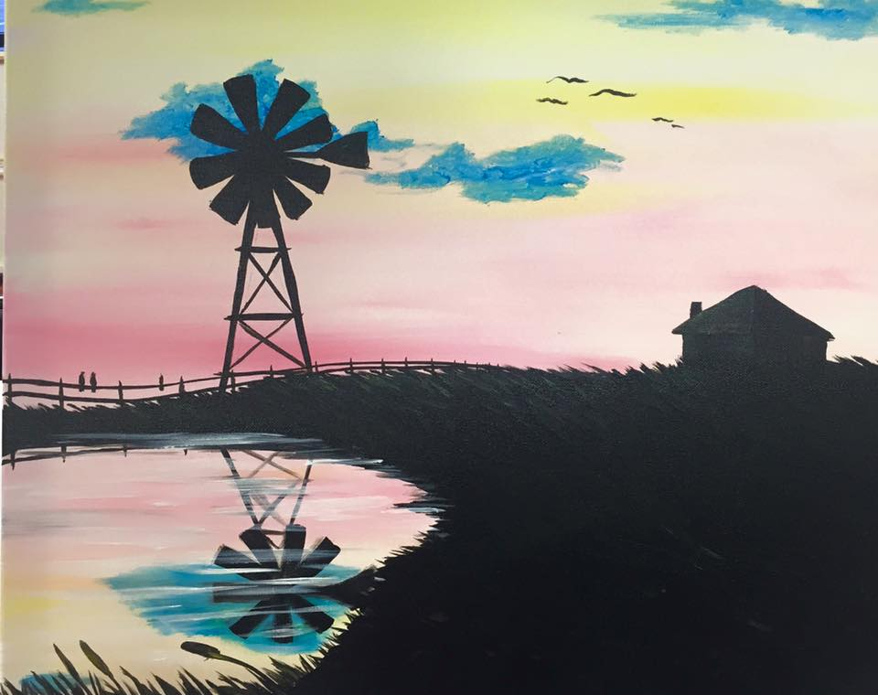 """Windmill Reflections"" - 2 hours"