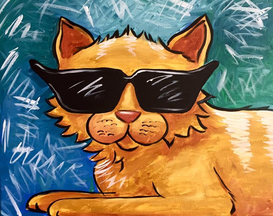 """""""Funky Feline"""" - 2 hours"""