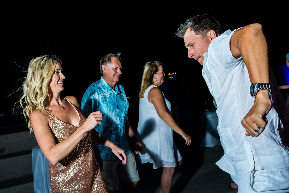 bride and groom having a lot of fun during their wedding at The Cape