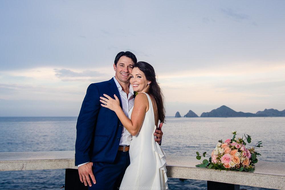 Sunset Monalisa Wedding. Tim & Lisa Los Cabos wedding