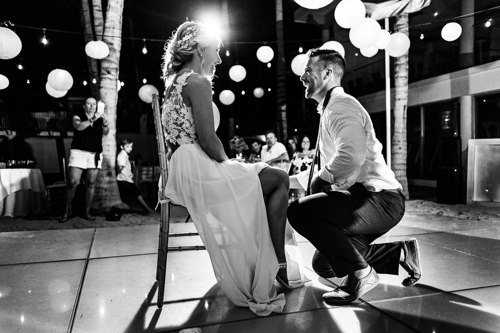 Bride and Groom during their first dance on their Los Cabos Destination Wedding