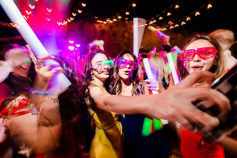 Dance floor during destination wedding at El Ganzo wedding Venue