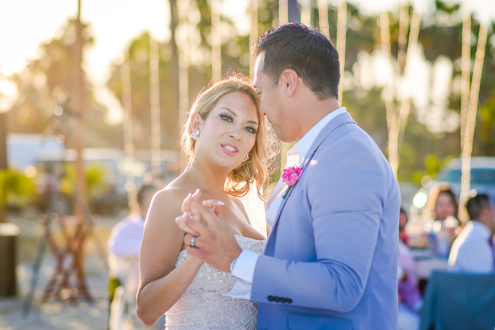 Bride and groom first dance during their Wedding in San Jose del Cabo, Mexico at t