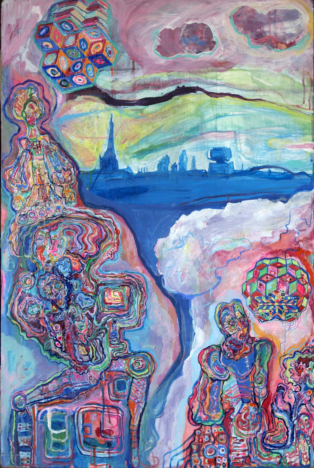 Revaler/Matkowskystrasse, mixed media, 3x2ft, 2004
