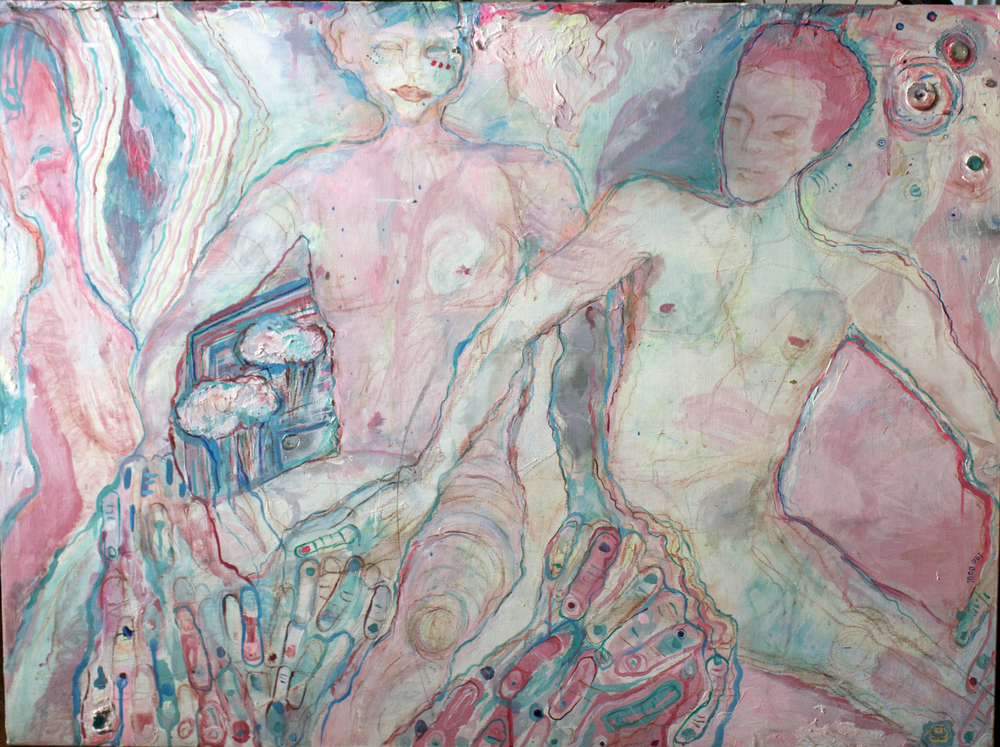Freundschaft, mixed media on canvas, 3x4ft, 2006