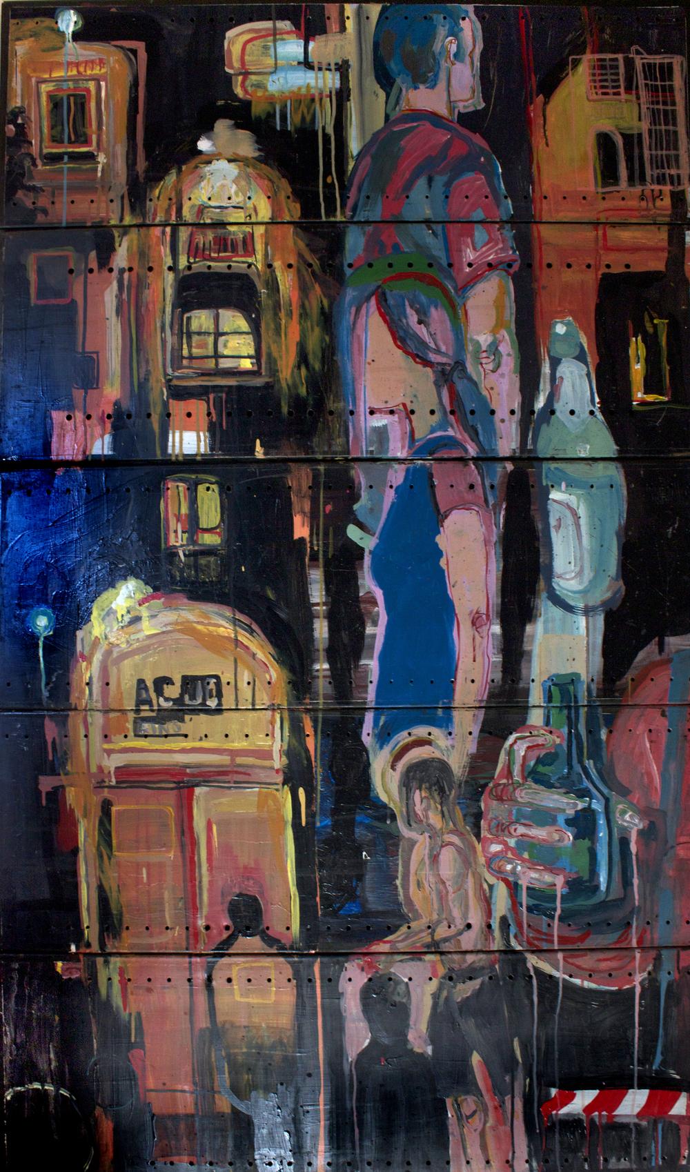 ACUD, acrylic on metal, 5x3ft, 2003