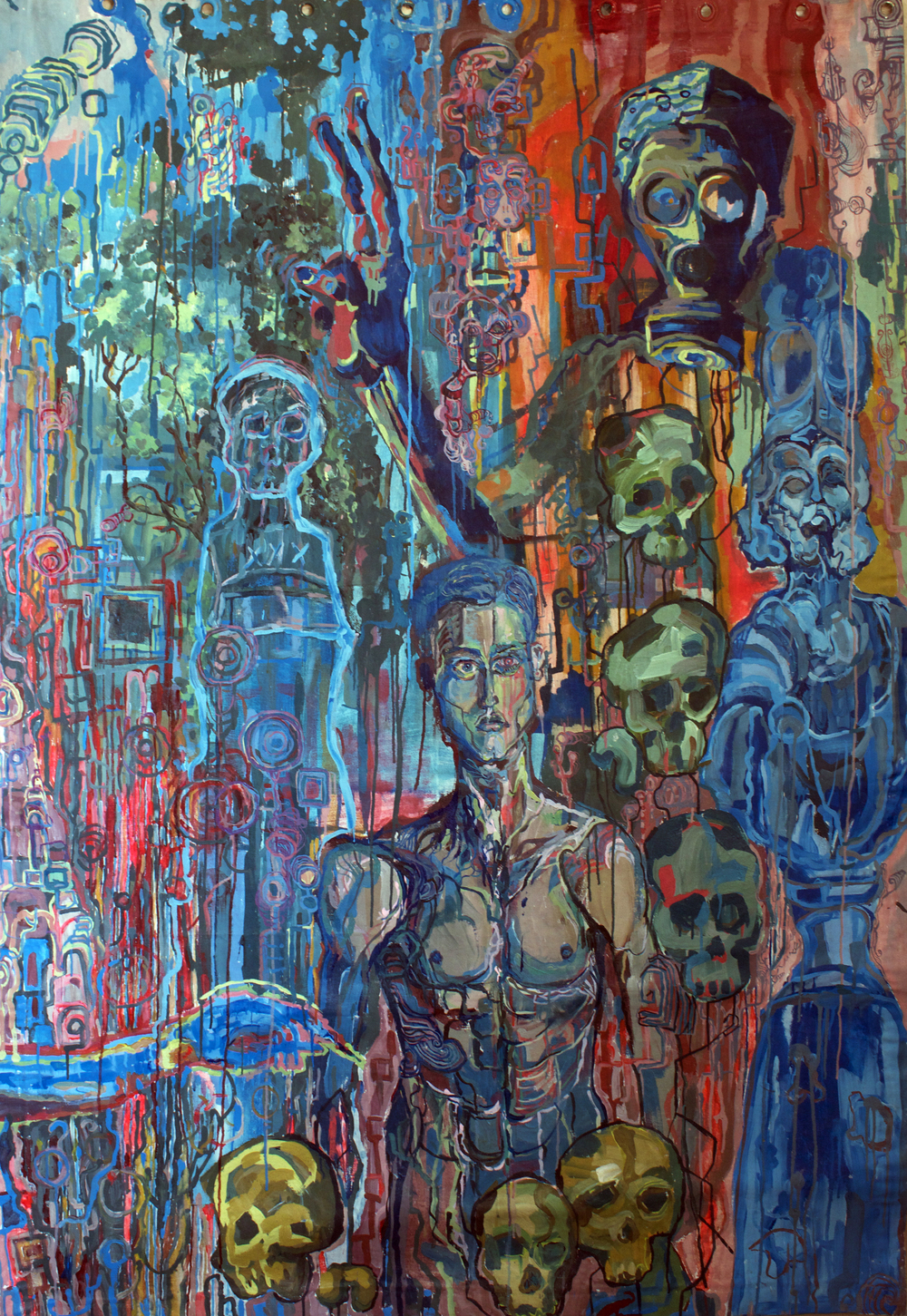 History's Decay, Acrylic on Canvas, 6ft x 5ft, 2002