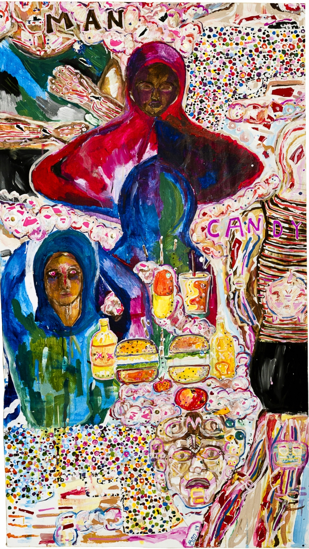 Candy Boy (for Trayvon and...), mixed media on canvas, 5ft x 3ft, 2014