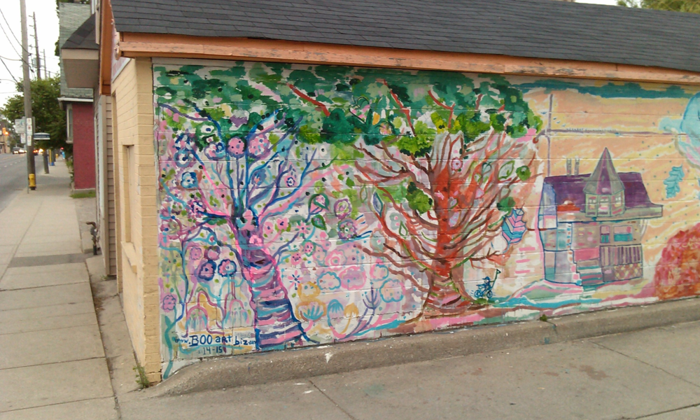 Changes made to mural in May 2015 due to an unsightly tag- which is now deeply buried.