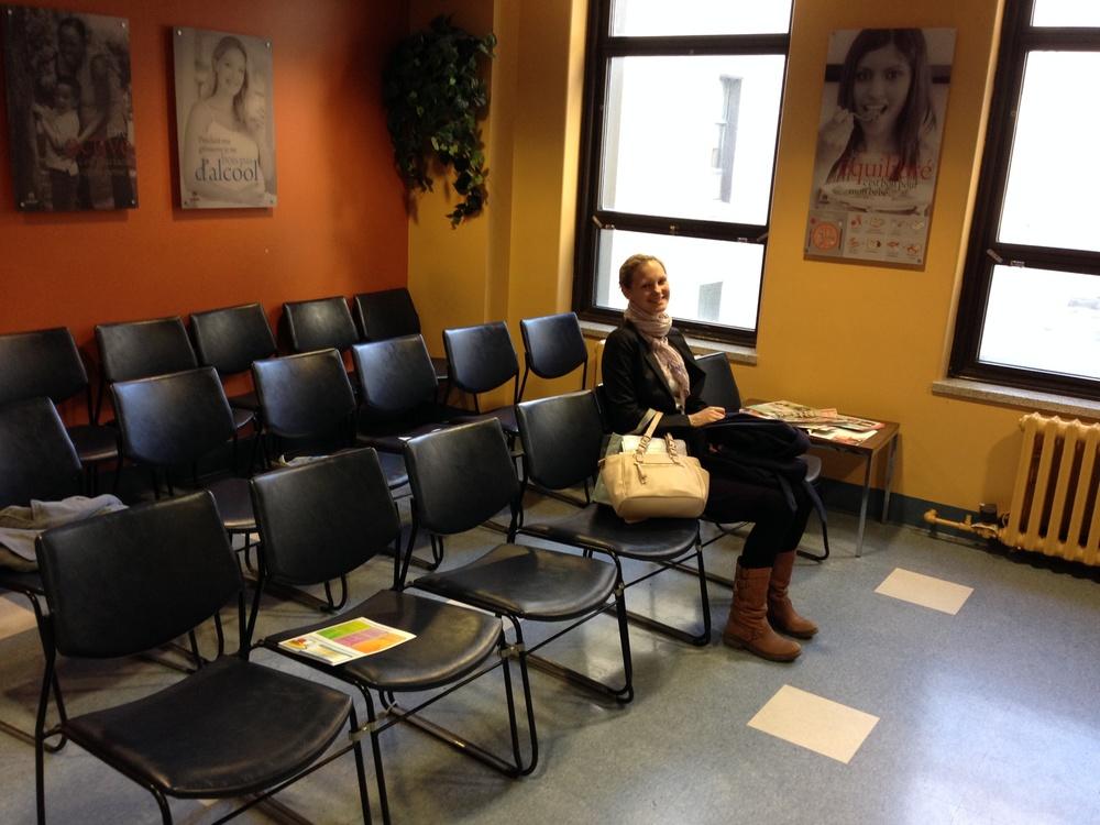 Das Wartezimmer im Krankenhaus