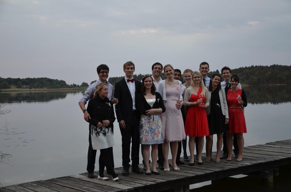 auf der Hochzeit in Bayern - mein Bäuchlein ist schon zu erkennen