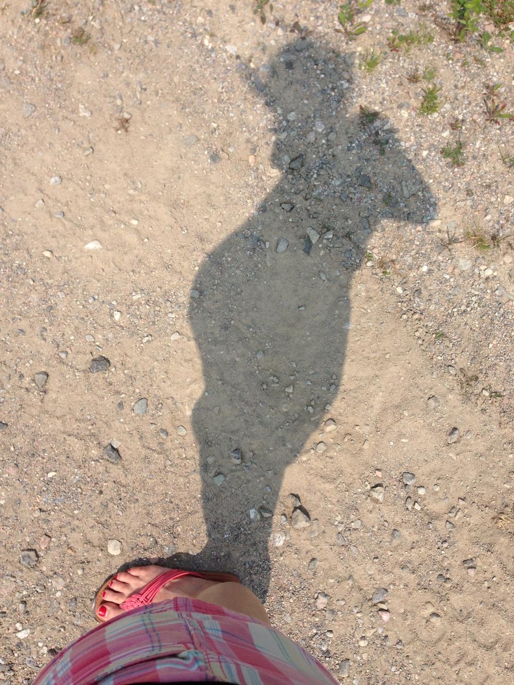 Der Bauch im Profil am 19. Juli (24+6 Tage)