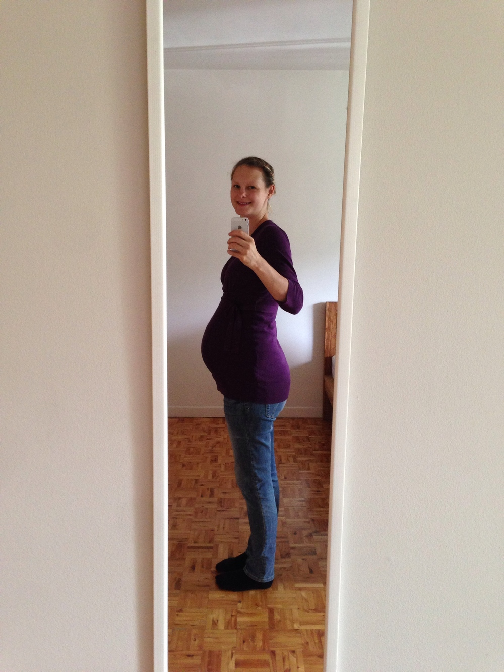 Mamas Bauch am 22. August (29 Wochen + 5 Tage)