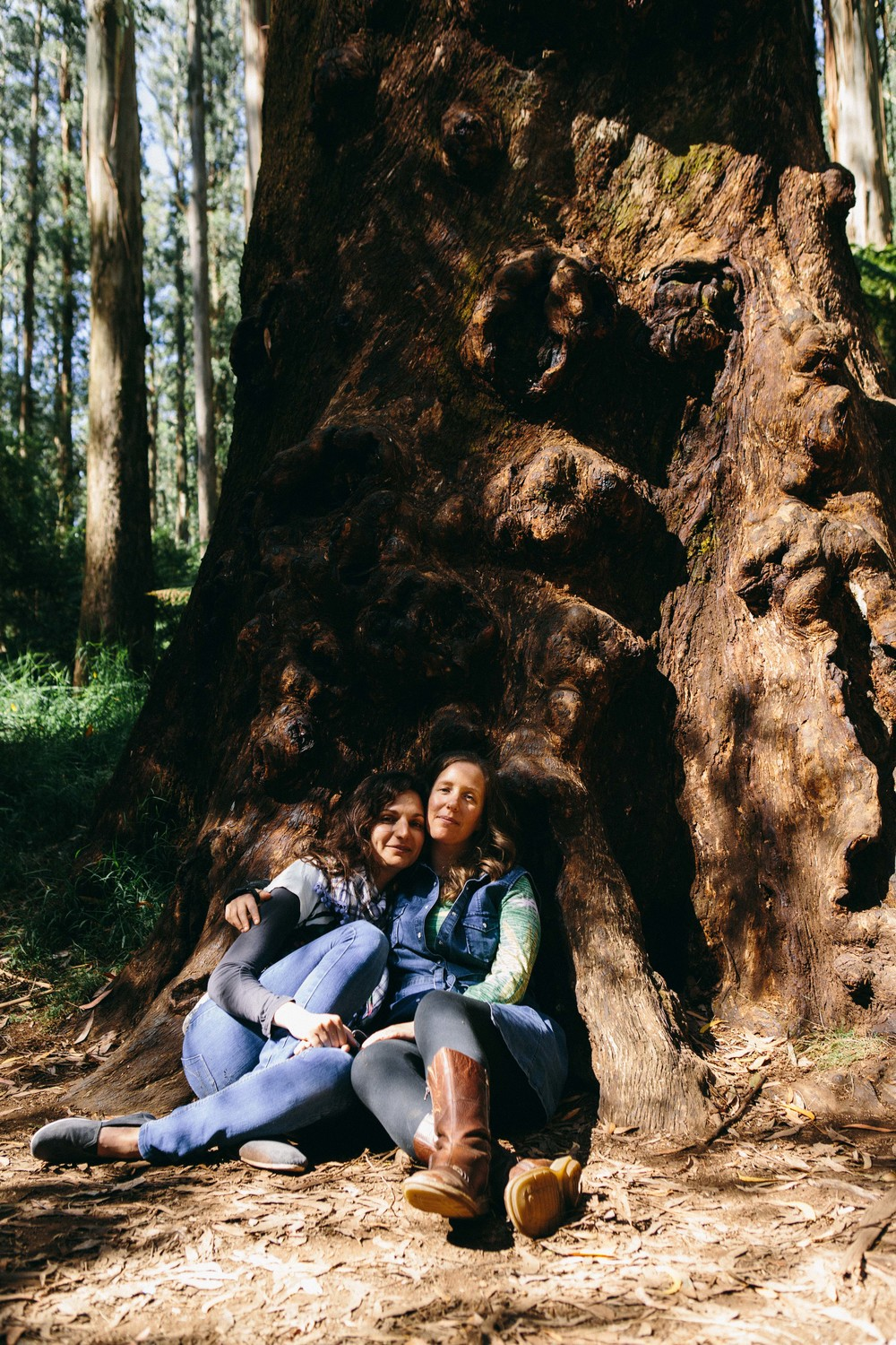"Shelly & Lee under the ""Tumor "" tree in the Dandenong ranges."