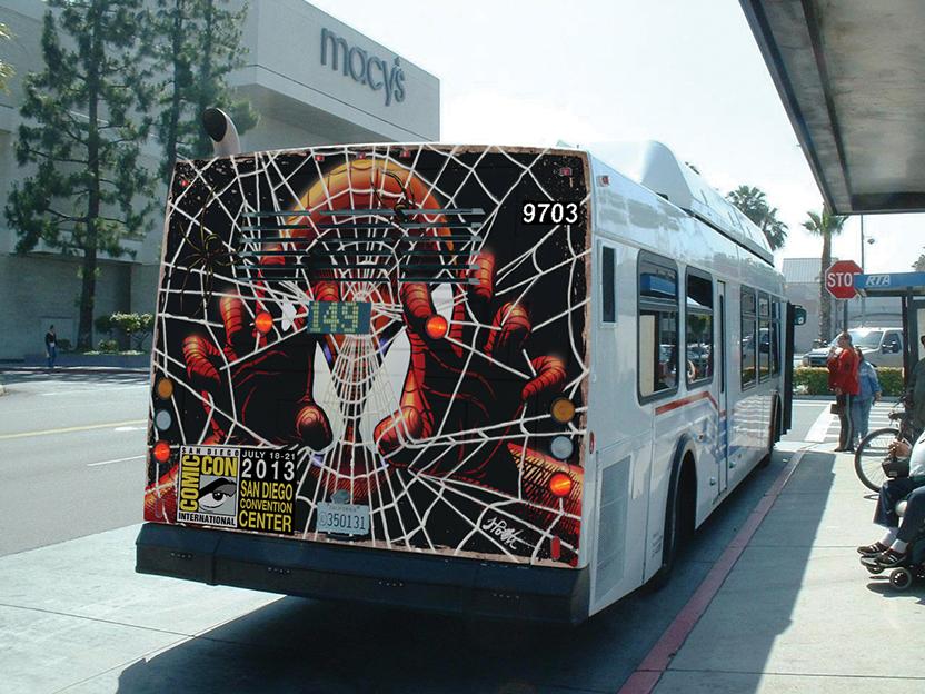 Transit Campaign - San Diego Comic Con