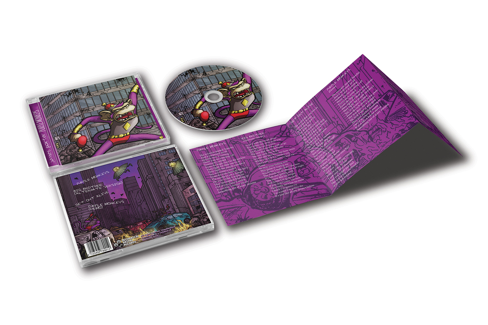 Music CD Design - Purple Monkeys
