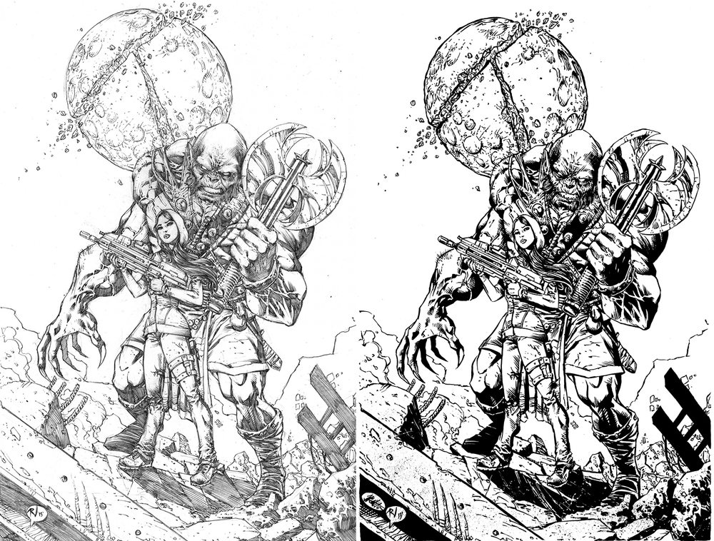 Traditional Illustration - Comic Book Inking