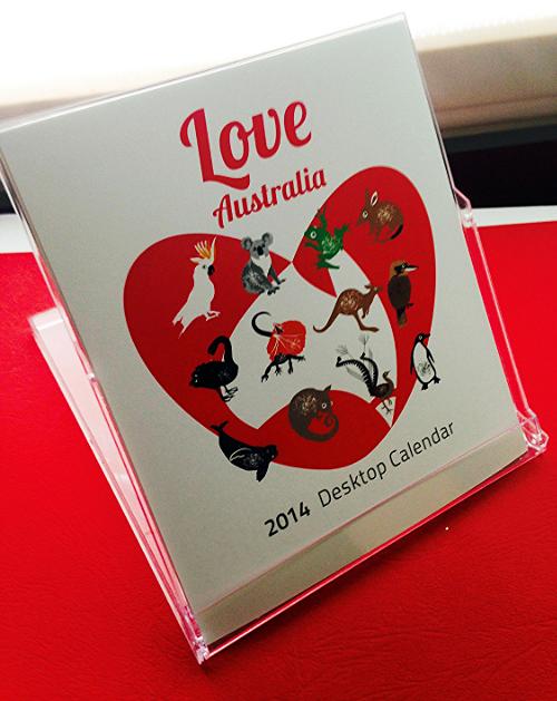 Love Australia Desktop Calendar 2014
