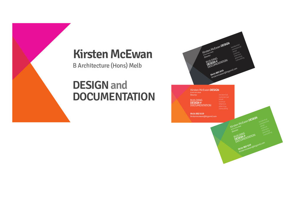 Corporate identity Kirsten McEwan Design and Documentation