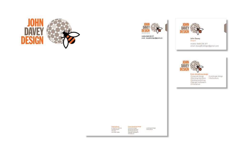 Corporate identity, John Davey Design