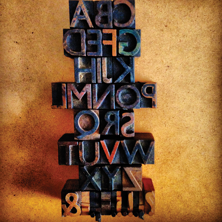 19th Century letterpress type. Gill Sans type font designed by Eric Gill. Image, John Davey Design