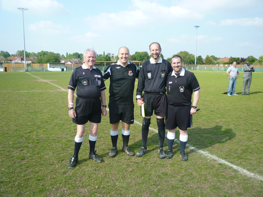 Dewar Shield 2013 match officials.JPG