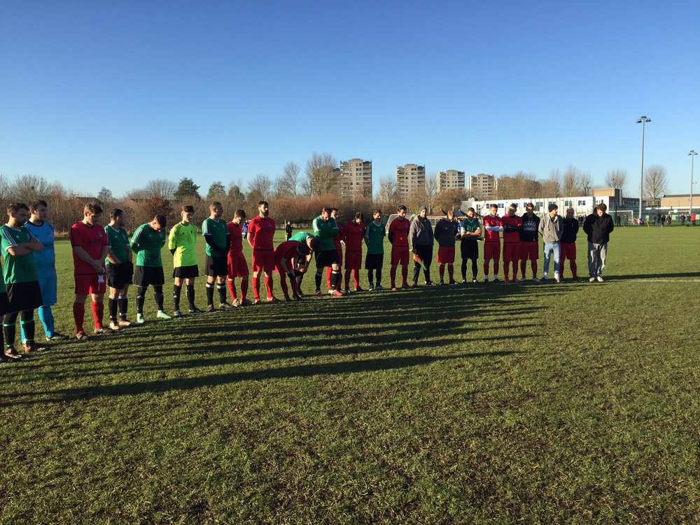 Abbey Wood and Phoenix Knights stand to pay respects to FC Chapacoense