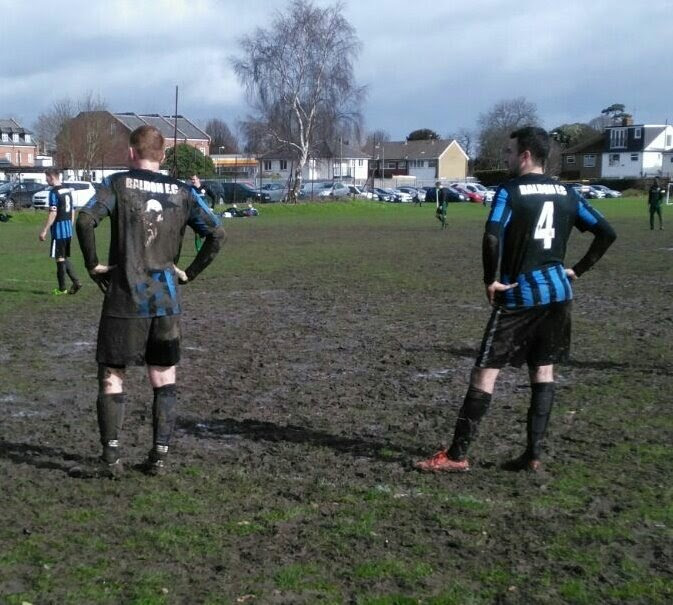Mud was the order of the day as Woodside Celtic played Baldon Sports. Pic from Twitter (C) @baldonwesfa